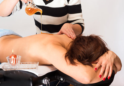 Honig Massage im Appartmenthotel Cura